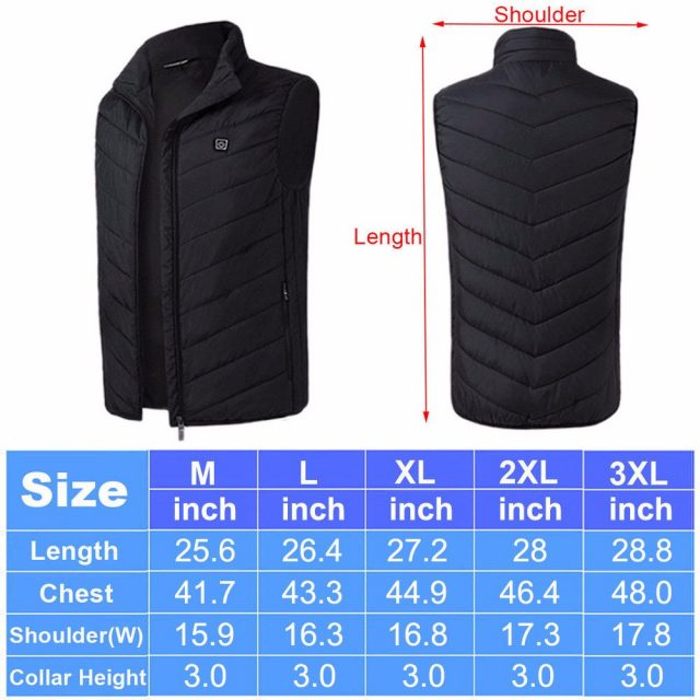 Men Electric Heated Vest USB Heating Vest